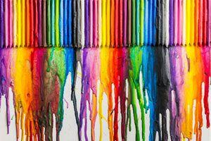 Ilustración de Cómo Crear un Lienzo Derritiendo Crayones