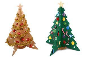 Ilustración de C&oacutemo hacer un Pino de Navidad de Cart&oacuten