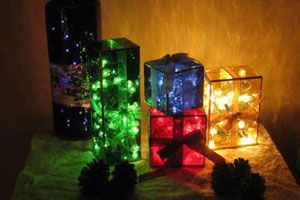 Ilustración de Cómo hacer Lámparas con forma de Caja de Regalo para Navidad