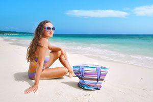 Ilustración de Cómo Cuidar el Cuerpo en la Playa