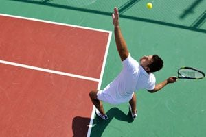 Ilustración de Cómo jugar al tenis