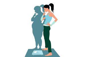 Ilustración de Diferencias entre bulimia y anorexia