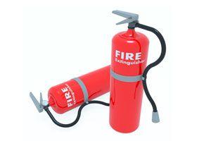Ilustración de Tipos de extintores de incendio