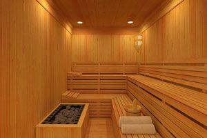 Ilustración de Beneficios de la sauna finlandesa