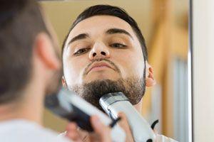 Ilustración de Cómo afeitar una barba abundante