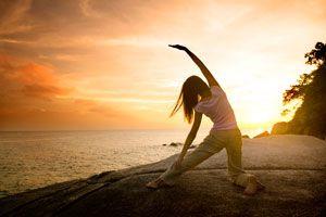 Ilustración de Hábitos para una vida saludable
