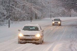 Ilustración de Consejos para conducir con nieve