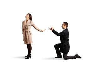 Ilustración de Cómo decir que no a una propuesta de matrimonio