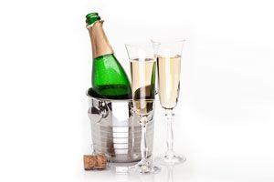Ilustración de Cómo servir el champagne
