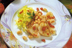 Ilustración de Cómo hacer ensalada de alubias blancas con bacalao