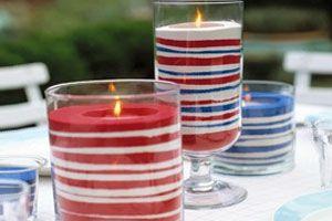 Cómo hacer candelabros con sal de colores