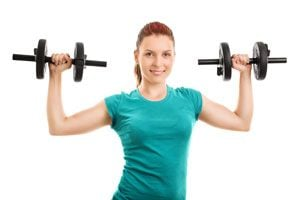Ilustración de Cómo hacer ejercicios con pesas