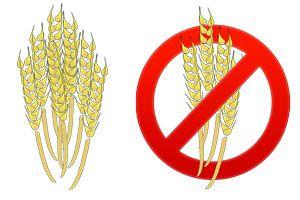Ilustración de Alimentos con gluten y sin gluten