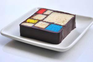Ilustración de Cómo hacer una torta al estilo Mondrian