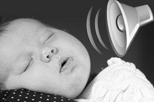 Ilustración de Cómo acostumbrar al bebé a dormir con ruido