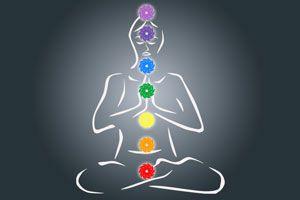 Ilustración de Meditación para abrir los chakras