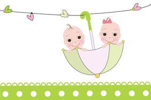 Ilustración de Cómo decorar un baby shower para mellizos