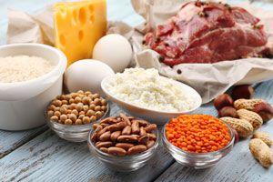 Ilustración de Alimentos ricos en proteínas