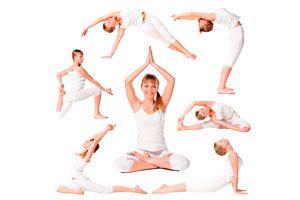 Ilustración de Poses de yoga fáciles de hacer