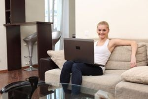 Ilustración de Cómo trabajar desde casa
