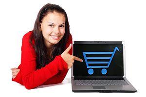 Ilustración de Cómo hacer compras por internet