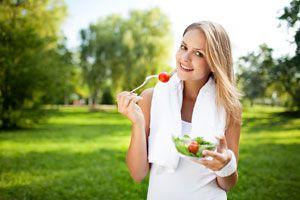 Ilustración de Seis pasos para una buena salud