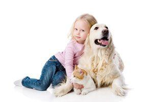 Ilustración de Las mascotas más adecuadas para niños