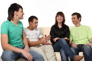 Ilustración de Cómo entrar en un nuevo grupo de amigos