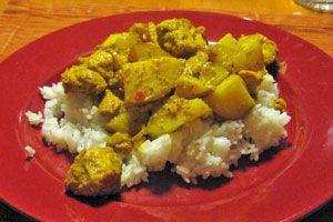Ilustración de Cómo hacer curry de pollo