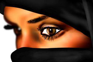 Ilustración de Cómo Maquillar los Ojos estilo árabe