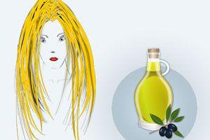 Ilustración de Aceite de oliva para el Cabello
