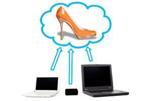 Ilustración de Cómo comprar zapatos online