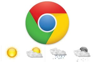 Ilustración de Extensión para conocer el clima en Chrome