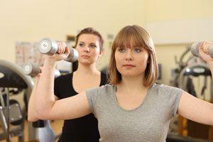 Ilustración de Consejos para hacer gimnasia sin riesgos