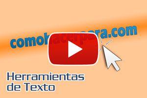 Cómo usar la herramienta texto en Corel - Video