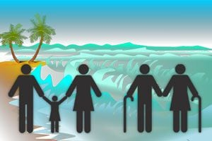 Ilustración de Consejos para salir de vacaciones con tus suegros