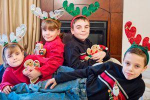 Ilustración de Ideas para entretener a los niños en Navidad