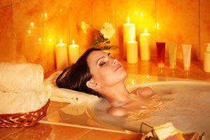 Ilustración de Un baño purificador para año nuevo
