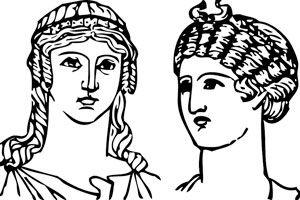 Ilustración de Cómo hacer un peinado griego