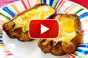 Cómo hacer pimientos con huevo a la parrilla - Video
