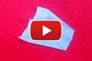 Ilustración de Cómo hacer un avión de papel modelo Elal