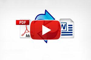 Ilustración de Cómo convertir archivos PDF a Word