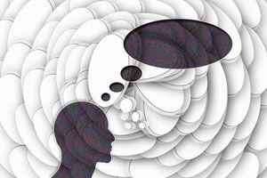 Ilustración de 7 pensamientos negativos que te impiden ser feliz