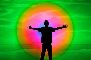 Ilustración de Uso de los Colores en Cromoterapia