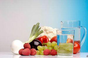 Ilustración de Bebidas para Eliminar Líquidos del Cuerpo