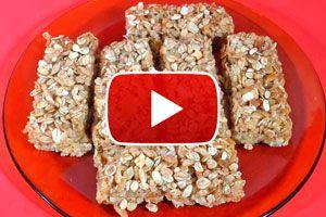Ilustración de Video: Receta de Barras de Cereal Caseras