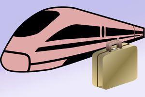 Ilustración de Cómo Reclamar una Maleta Perdida en el Tren