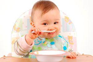 Ilustración de Recetas Caseras para Bebés de 6 Meses