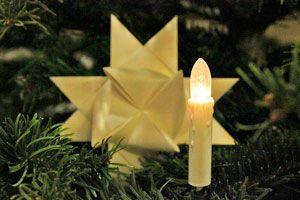 Guia para crear velas eléctricas con luces de Navidad. Paso a paso, crea velas con luces navideñas. Velas eléctricas para decorar la casa