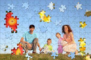 Ilustración de Cómo hacer un Puzzle con una Foto Familiar